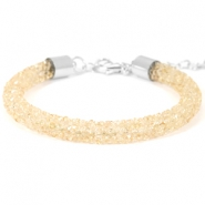 Armband 7mm crystal diamond Bisque beige