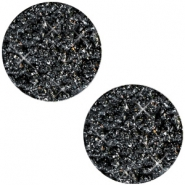 12 mm platte Polaris Elements cabochon Goldstein Black