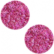 12 mm platte Polaris Elements cabochon Goldstein Fuchsia