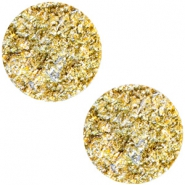12 mm platte Polaris Elements cabochon Goldstein Sunflower yellow