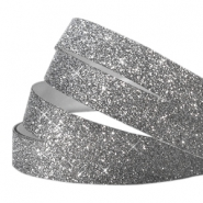 Tape van Crystal Glitter 10mm Antraciet