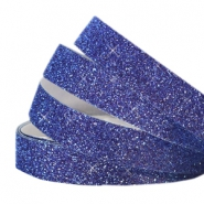 Tape van Crystal Glitter 5mm Indigo blue