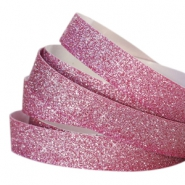 Tape van Crystal Glitter 10mm Fuchsia