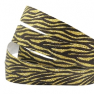 Tape van Crystal Glitter animal print 5mm Black-gold