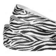 Tape van Crystal Glitter animal print 5mm Silver-black