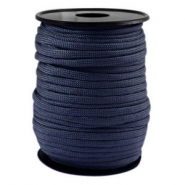 Trendy koord rond Paracord 4mm Donker blauw