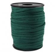 Trendy koord rond Paracord 4mm Donker emerald groen