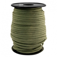 Trendy koord rond Paracord 4mm Light army green
