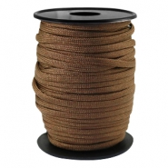 Trendy koord rond Paracord 4mm Dark bronze brown
