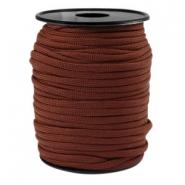 Trendy koord rond Paracord 4mm Chestnut brown