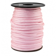 Trendy koord rond Paracord 4mm Licht roze