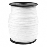 Trendy koord rond Paracord 4mm Wit