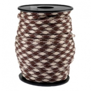 Trendy koord rond Paracord 4mm Beige-warm brown