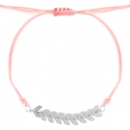 Trendy armbandje Rose peach-zilver