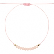 Trendy armbandje Rose peach-goud