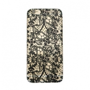 Smartphonehoesjes voor iPhone 6 Plus lace Transparant - zwart