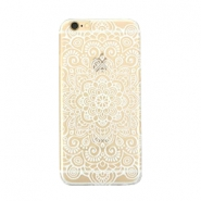 Smartphonehoesjes voor iPhone 6 Plus mandala Transparant - wit