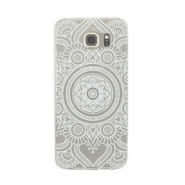 Smartphonehoesjes voor Samsung Galaxy S7 mandala Transparant - wit