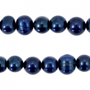 Zoetwater parels 10-11mm Dark midnight blue