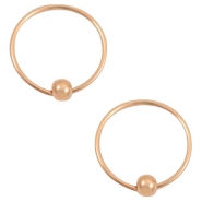 Musthave oorbellen hoops with ball Rosegold