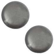 12 mm classic Polaris Elements soft tone shiny cabochon Silver night