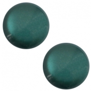 12 mm classic Polaris Elements soft tone shiny cabochon Deep lake teal blue
