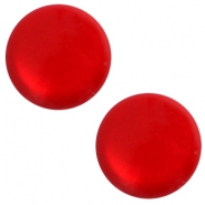 12 mm classic Polaris Elements soft tone shiny cabochon Scarlet red