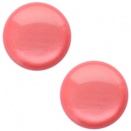 12 mm classic Polaris Elements soft tone shiny cabochon Peachy coral pink