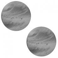 20 mm platte Polaris Elements cabochon Mosso shiny Silver night
