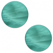 20 mm platte Polaris Elements cabochon Mosso shiny Lagoon green