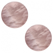 12 mm platte Polaris Elements cabochon Mosso shiny Taupe brown