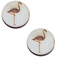 Cabochons hout 12 mm flamingo Grey