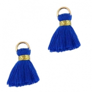 Ibiza style kwastje 1.5cm Gold-admiral blue