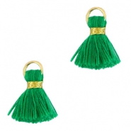 Ibiza style kwastje 1.5cm Gold-classic green