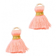 Ibiza style kwastje 1.5cm Gold-coral peach