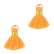 Ibiza style kwastje 1.5cm Gold- light orange