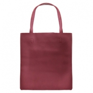 Trendy tas shopper Aubergine red