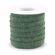 Trendy koord denim 10mm plat Dark green