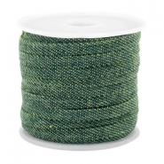 Trendy koord denim 5mm plat Dark green