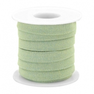Trendy koord denim 10mm plat Light green