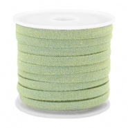 Trendy koord denim 5mm plat Light green