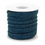 Trendy koord denim 10mm plat Dark royal blue