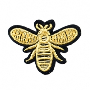 Fashion Patches bee Goud
