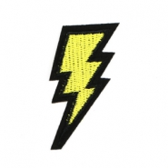Fashion Patches lightning Geel