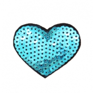 Fashion Patches hart Blauw