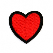 Fashion Patches hart Rood