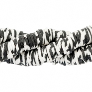 Kralen Katsuki animal print 4mm Off white-black