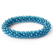 Facet armbanden top quality Dark blue zircon-pearl diamond coating