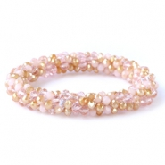 Facet armbanden top quality Rose alabaster-champagne gold (opal/diamond)