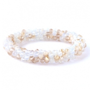 Facet armbanden top quality White-beige (opal/diamond)